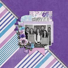 """Family"" digital scrapbook layout by Shauna Trueblood"