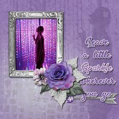 """Leave a Little Sparkle"" digital scrapbook layout by Marie Hoorne"