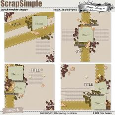 ScrapSimple Layout template: Happy Template by Florju designs