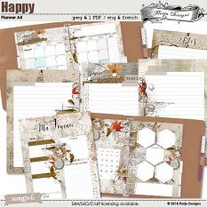 Happy Planner A5 : October by florju designs