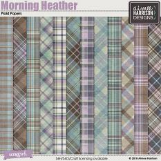 Morning Heather Plaid Papers