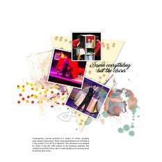 Layout by Marie Orsini using the kits in Circus series.