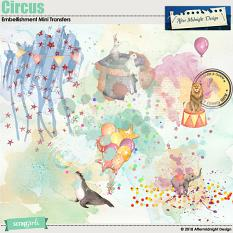 Circus Embellishment Mini Transfers by Aftermidnight Design