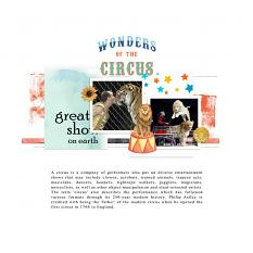 Layouts made by Marie Orsini using the kits in the Circus series.