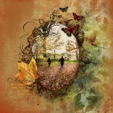Layout using Almost Autumn Digital layout templates