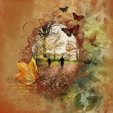Layout 2 using Almost Autumn Digital layout templates