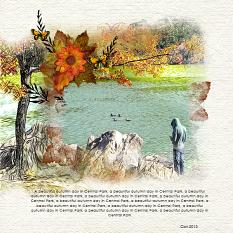 Layout by Geraldine Touitou using Almost Autumn Digital layout templates