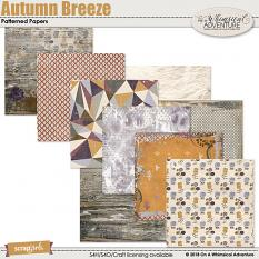 Autumn Breeze Patterned and Artsy Papers by On A Whimsical Adventure