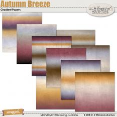 Autumn Breeze Gradient Papers by On A Whimsical Adventure