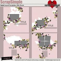 ScrapSimple Digital Layout Templates:Little Flower