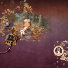 Digital layout using Autumn Breeze by On A Whimsical Adventure