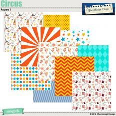 Circus Papers 1 by Aftermidnight Design