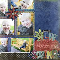 Digital scrapbooking layout by Laurel Lakey (See supply list with links below)