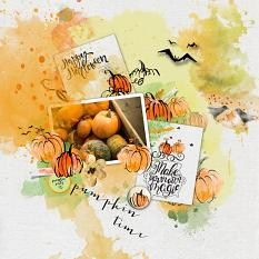 Layout by Marie Orsini using the kits in the Pumpkin Time series