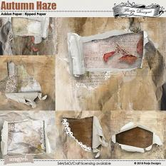 Autumn Haze Ripped Papers by florju designs