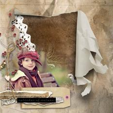 layout using Autumn Haze Ripped Papers by florju designs