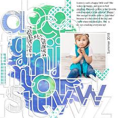 Scrapbook page created with Dream Big digital layout templates