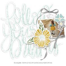 Scrapbook layout created with Dream Big digital layout templates