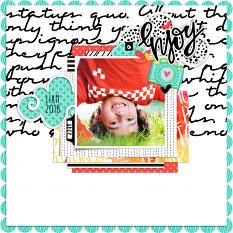 Scrapbook layout created with Dream Big paper templates