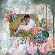 """Finally"" digital scrapbook layout by Andrea Hutton"