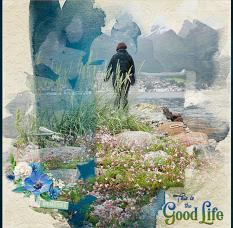 """Good Life"" digital scrapbook layout by Geraldine Touitou"