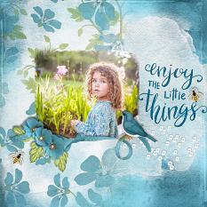 """Enjoy the Little Things"" digital scrapbook layout by Carmel Munro"