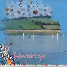 """By the Waters Edge"" digital scrapbook kit by Marie Hoorne"