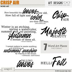 Crisp Air Word Art by AFT Designs - Amanda Fraijo-Tobin @ScrapGirls.com