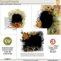 Almost Autumn digital layout templates