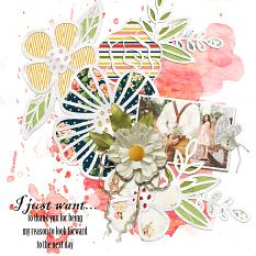 Scrapbook layout created with Dream Big Embellishment templates