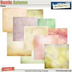 Rustic Autumn Papers by Aftermidnight  Design