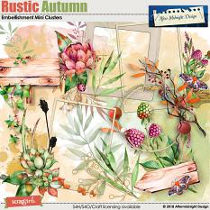 Rustic Autumn Clusters by Aftermidnight  Design