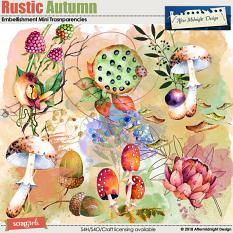 Rustic Autumn Transparencies by Aftermidnight Design