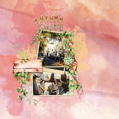 Layouts by Marie Orsini using the kits in the Rustic Autumn series.