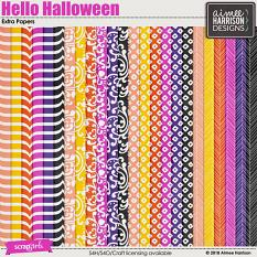 Hello Halloween Extra Papers