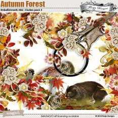 Autumn Forest Embellishment Mini : Clusters Pack 3 by florju designs