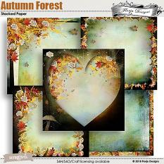 Autumn Forest Stacked Papers by florju designs