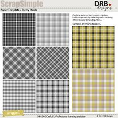 ScrapSimple Paper Template: Pretty Plaids by DRB Designs