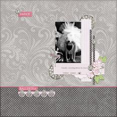 """Ballerina"" digital scrapbook layout by Andrea Hutton"