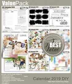 layout using ScrapSimple Embellishment template: Calendar 2019 Clipping Mask by florju designs