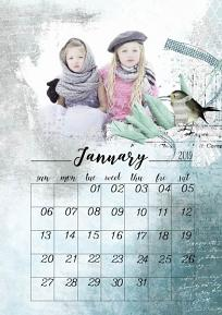 layout using Calendar 2019 Quick Pages by florju designs