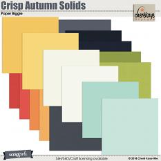 Crisp Autumn Solid Paper Biggie by Cheré Kaye Designs