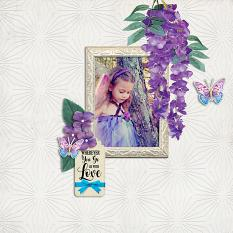 """Go With Love"" digital scrapbook layout by Carmel Munro"