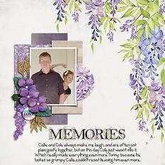 """Memories"" digital scrapbook layout by Shauna Trueblood"