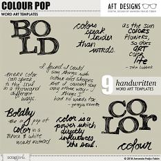 ScrapSimple Word Art Templates: Colour Pop by AFT Designs - Amanda Fraijo-Tobin @ScrapGirls.com
