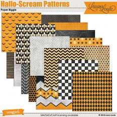 Hallo-Scream Patterns Paper Biggie