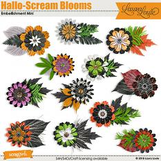 Hallo-Scream Blooms Embellishment Mini