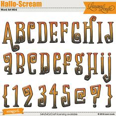 Hallo-Scream Word Art Mini