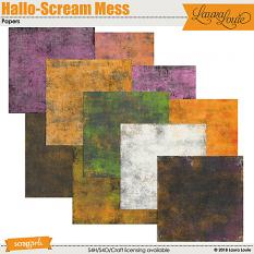 Hallo-Scream Mess Papers
