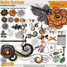 Hallo-Scream Embellishment Biggie